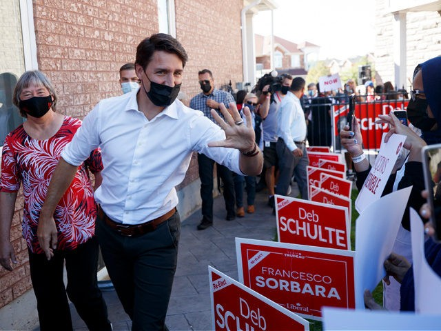 MAPLE, ON - SEPTEMBER 19: Liberal Party Leader, Canadian Prime Minister Justin Trudeau arrives to speak to supporters during a campaign stop on September 19, 2021 in Maple, Canada. Canadians head to the polls Monday following a month of campaigning by the party leaders, after Prime Minister Justin Trudeau called …