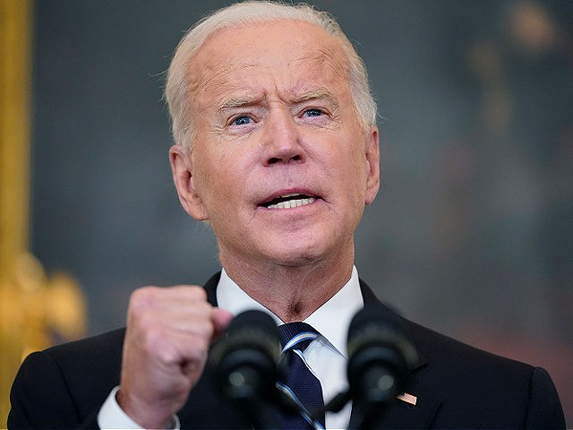 President Joe Biden speaks in the State Dining Room at the White House, Thursday, Sept. 9, 2021, in Washington. Biden is announcing sweeping new federal vaccine requirements affecting as many as 100 million Americans in an all-out effort to increase COVID-19 vaccinations and curb the surging delta variant. (AP Photo/Andrew …