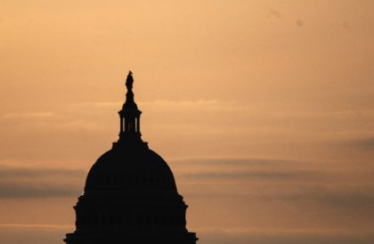 The US Congress, pictured as the sun rises over Washington in March 2021, will see one of its busiest months in years