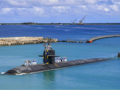 FILE - In this Aug. 19, 2021 file photo provided by U.S. Navy, the Los Angeles-class fast attack submarine USS Oklahoma City (SSN 723) returns to U.S. Naval Base in Guam, Aug. 19, 2021. As tensions between France and the United States simmered this week over an Indo-Pacific defense deal …
