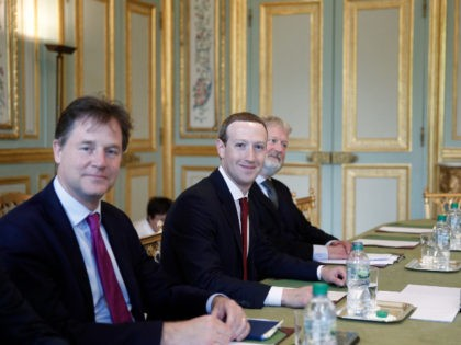 Facebook's Mark Zuckerberg and Nick Clegg