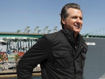 Gavin Newsom port (Carolyn Cole / Pool / AFP / Getty)