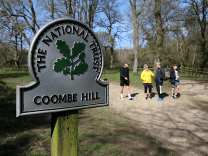 AYLESBURY VALE, ENGLAND - MARCH 22: Members of the public enjoy a walk at Coombe Hill which is owned by the National Trust on March 22, 2020 in Aylesbury Vale, Buckinghamshire. Coronavirus (COVID-19) has spread to at least 188 countries, claiming over 13,000 lives and infecting more than 300,000 people. …