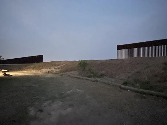Gap in a border wall construction project. (Photo: Randy Clark/Breitbart Texas)