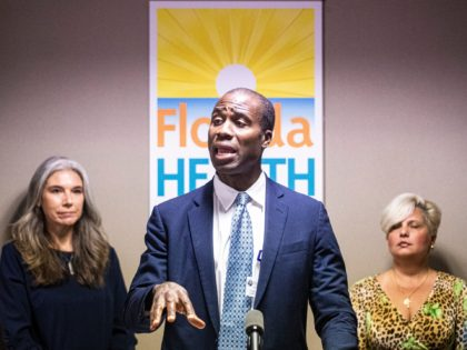 Florida s new surgeon general Dr. Joseph Ladapo speaks at a press conference at the Florida Department of Health in Lee County on Thursday, October 14, 2021. Dr. Joseph Ladapo