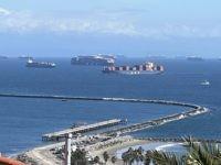 PHOTOS: Cargo Ships Hover Near L.A., Long Beach Ports