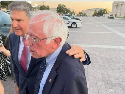 Joe Manchin Meets with Bernie Sanders During Democrat Infighting