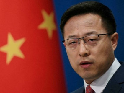 Chinese foreign ministry spokesman Zhao Lijian said Richard made his comment 'out of self-interest to undermine relations between China and France' GREG BAKER AFP