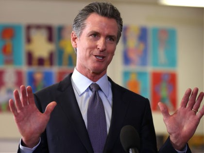 SAN FRANCISCO, CALIFORNIA - OCTOBER 01: California Gov. Gavin Newsom speaks during a news conference after meeting with students at James Denman Middle School on October 01, 2021 in San Francisco, California. California Gov. Gavin Newsom announced that California will become the first state in the nation to mandate students …