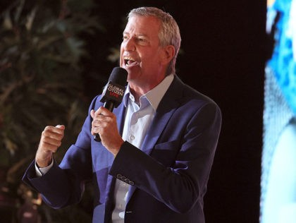 NEW YORK, NEW YORK - SEPTEMBER 25: NYC Mayor Bill de Blasio speaks onstage during Global Citizen Live, New York on September 25, 2021 in New York City. (Photo by Theo Wargo/Getty Images for Global Citizen)