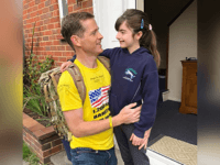 VIDEO: Veteran Marches 1,200 Miles Barefoot for Daughter with Rare Syndrome