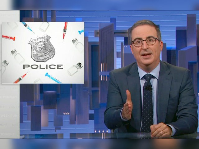 John Oliver Attacks Cops Threatening to Quit over Vaccine Mandates: 'F***ing Let Them!'