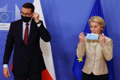 Poland's Prime Minister Mateusz Morawiecki and EU Commission President Ursula von der Leyen clashed in the European parliament this week
