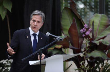 US Secretary of State Antony Blinken visits the Jose Celestino Mutis Botanical Garden in Bogota, Colombia