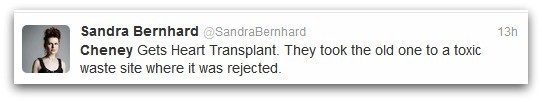 sandra bernhard tweet