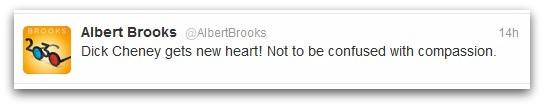 Albert Brooks tweet