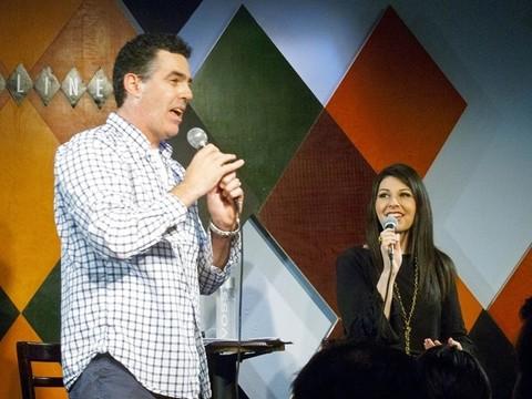 Adam Carolla and Alison Rosen