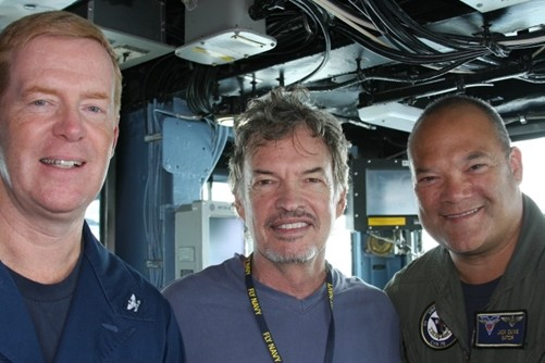 Gary Graham and friends on a U.S. aircraft carrier