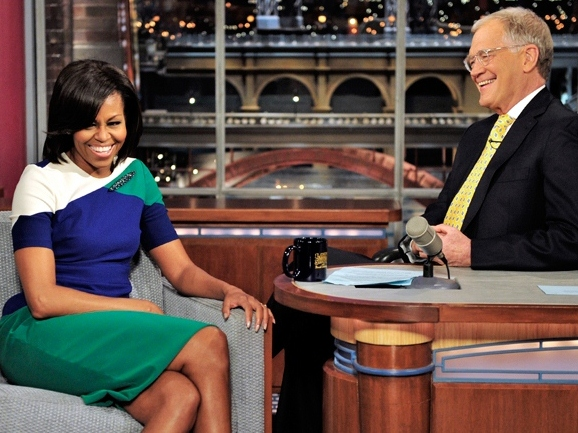 Michelle Obama Tells Letterman She's a Blue Collar Gal from Chicago