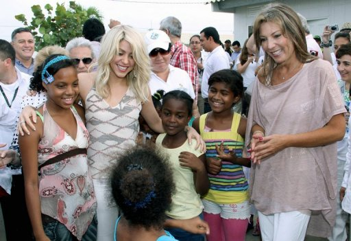 Shakira Visits Cartagena To Aid Colombian Children