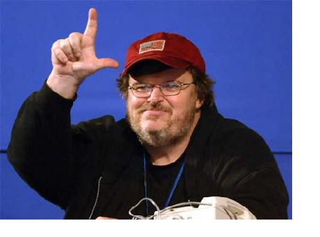 Michael Moore Makes Fun of the Illiterate