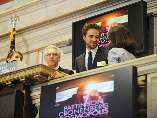 'Twilight's Pattinson Promotes Anti-Capitalist Movie By Ringing NYSE Morning Bell