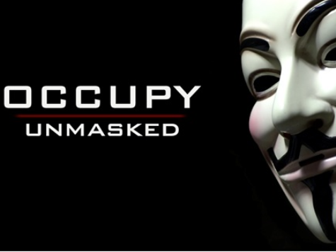 Occupy Unmasked Screens At Democratic National Convention Event