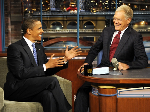 Middle East Burns, Economy Sputters, Obama Drops by Letterman Before Beyoncé Bash