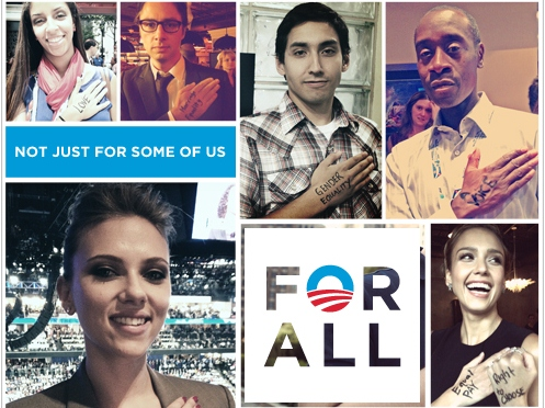 Celebrities Pledge Allegiance to Barack Obama