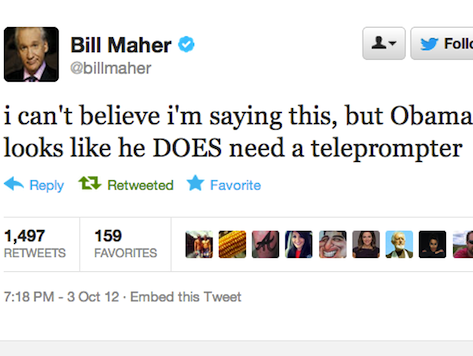 Bill Maher: Obama 'Needs a Teleprompter'