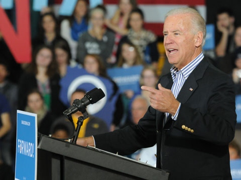 Biden Reads Voting Top 10 on 'Late Show'