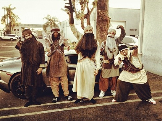 Chris Brown's Trick: Dressing as Terrorist for Halloween