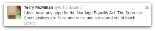 Terry McMillan tweet