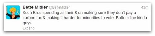 Bette Midler tweet