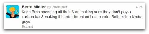 Bette Midler tweet
