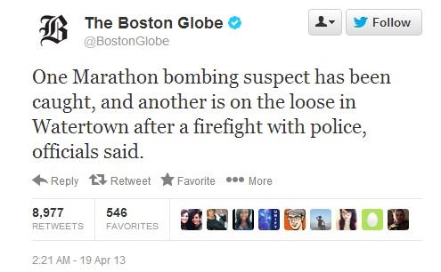 LIVE FEED** Boston Manhunt for Marathon Terror Suspects