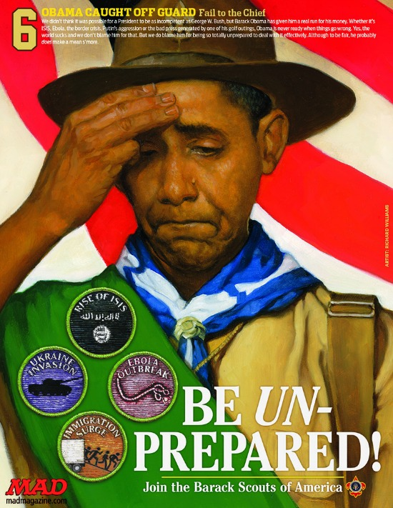 Mad Magazine's Obama boy scout image