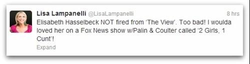 Lisa Lampanelli tweet