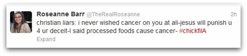 Roseanne Barr backtrack Tweet