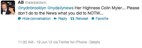 Baldwin Tweet Her Highness