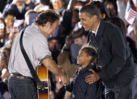 Bruce Springsteen and President Obama