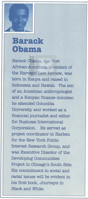Barack Obama The First African American President Of Harvard Law Review Was Born In Kenya And Raised Indonesia Hawaii