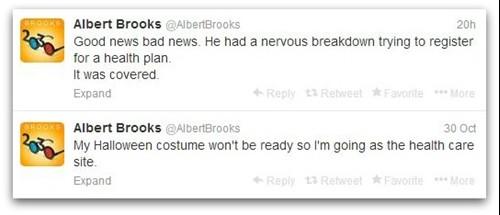Tweets by Albert Brooks
