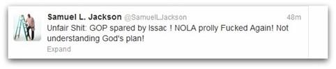 Sam Jackson Twitter Slam GOP