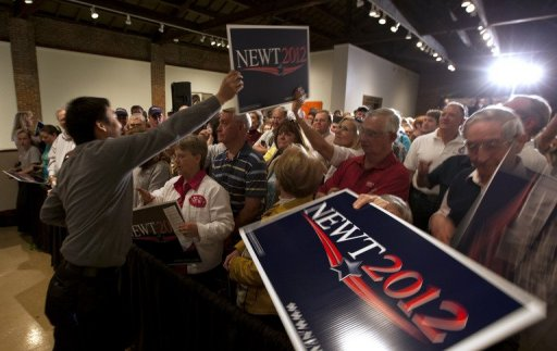 Gingrich Looks for Life-Line Tomorrow in Deep South