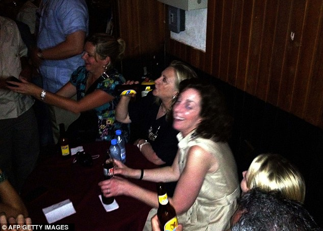 Hillary Parties In Colombia