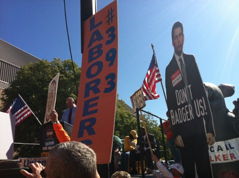 New Tone: Union Rally Speaker Tells Scott Walker 'We Cut Your Head Off'