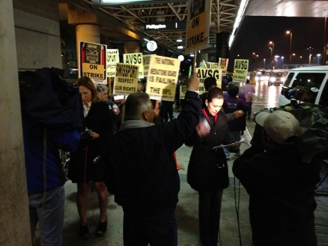 Labor Unions Occupy LAX Airport