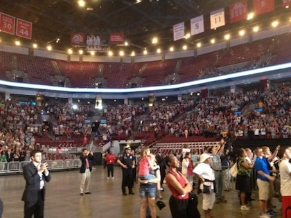 Obama Launches Campaign in Empty Arena