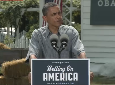 Obama's New Slogan 'Betting on America' Cribbed From Clinton